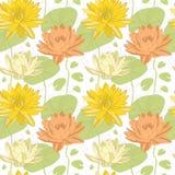 Lotus-Blumen im nahtlosen Muster Lizenzfreie Stockfotografie
