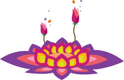 Lotus-Blumenmuster Stockfotografie