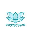 Lotus-Blumenvektorschönheit und Yogazusammenfassung lizenzfreie abbildung