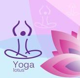 Lotus-Blumenyoga Lizenzfreie Stockfotos