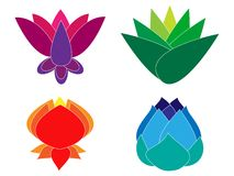 Lotus border Royalty Free Stock Photos