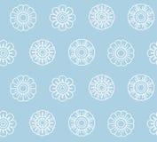 Lotus Bud Seamless Pattern tailandesa ilustração do vetor