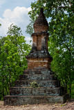 Lotus Bud shape Stupa in Sukhothai Historical Park Stock Image