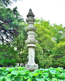 Lotus Buddha pillars Stock Photos