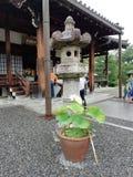Lotus, Byodoin Phoenix Hall, Kyoto, Japonia zdjęcie royalty free