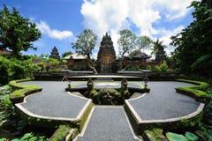 Lotus Cafe tempel i Ubud, Bali Arkivfoton