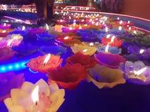 Lotus candle Royalty Free Stock Photos