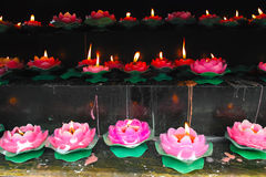 Lotus candle Royalty Free Stock Photo