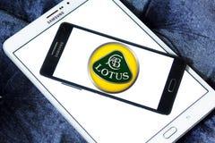 Lotus car logo. Logo of lotus car brand on samsung mobile on samsung tablet Stock Images