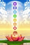 Lotus And Chakras sacrée Photos stock
