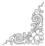 Lotus che dipinge sul fondo bianco Immagini Stock
