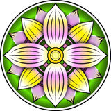 Lotus colorful ornament Royalty Free Stock Photo