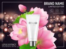 Lotus Cosmetics Realistic Poster illustration libre de droits