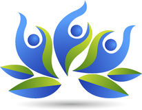 Lotus couple logo. Illustration art of a lotus couple logo with  background Royalty Free Stock Photo