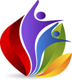 Lotus couple logo stock illustration