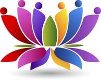 Lotus couple logo Stock Photo