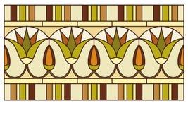 Lotus dans l'ornement égyptien antique Image stock