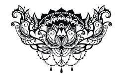 Lotus decorative  illustration Royalty Free Stock Image