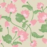 Lotus deseniowy bezszwowy Ilustracji