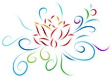 Lotus design royaltyfri illustrationer