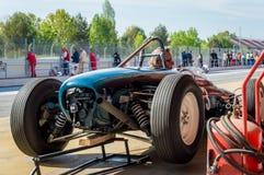 Lotus 18/21 di P2 in circuito de Barcellona, Catalogna, Spagna fotografia stock