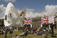 The lotus display in front of Goodwood house. Stock Images