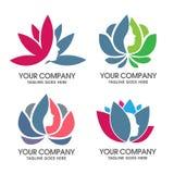 Lotus e cara fêmea Imagens de Stock Royalty Free