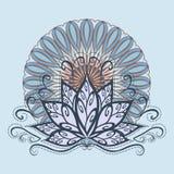 Lotus e mandala Imagens de Stock
