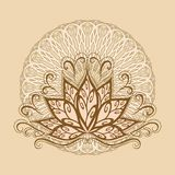 Lotus e mandala Imagens de Stock Royalty Free