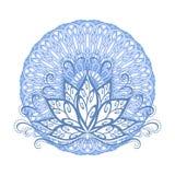 Lotus e mandala Imagem de Stock