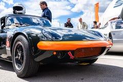 Lotus Elan nella manifestazione di automobile montjuic del circuito di Barcellona di spirito immagine stock