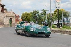 Lotus Eleven Climax Le Mans (1957) in Mille Miglia 2014 Royalty-vrije Stock Foto's