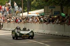 Lotus Eleven an Vernasca-Silber-Flagge 2017 Lizenzfreies Stockbild