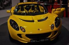 Lotus Elise affiché au Salon de l'Automobile de Tokyo photographie stock
