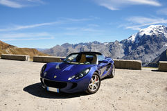 Lotus Elise and Alps view Stock Image