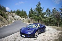 Lotus Elise bergväg Arkivfoton