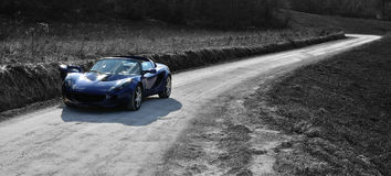 Lotus Elise countryside road Royalty Free Stock Photos
