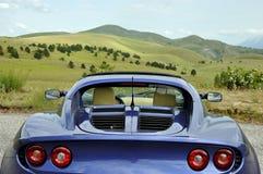 Lotus Elise - gran de valleimening van het sasso nationale park Stock Afbeelding