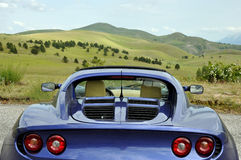 Lotus Elise - gran sasso national park valley view stock image