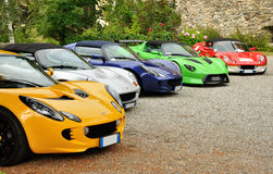 Lotus Elise meeting. In castles garden Stock Photography
