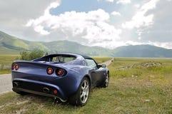 Lotus Elise - parque nacional del sasso del gran encendido derecho Imágenes de archivo libres de regalías