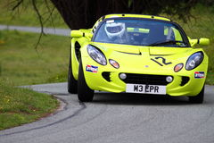 Lotus Elise R at hill climb event Royalty Free Stock Image