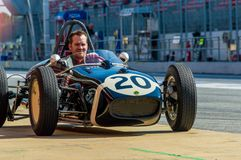 Lotus 18 912 en el circuito de Barcelona, Catalu?a, Espa?a foto de archivo