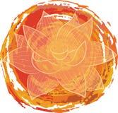 Lotus en fondo anaranjado Fotografía de archivo libre de regalías