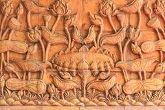 Lotus en littérature thaïlandaise images stock