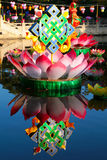 Lotus and endless knot Royalty Free Stock Photography