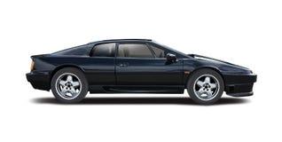 Lotus Esprit preta Fotografia de Stock Royalty Free