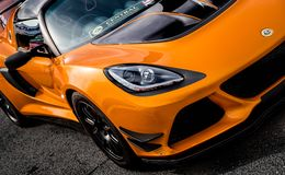 Lotus Exige orange 380 Photos libres de droits