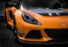 Lotus Exige orange 380 Image libre de droits