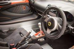 Lotus Exige Sport 380 Binnenland Stock Afbeelding
